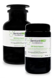 Bentonite MED® 800 detox capsules in savings stack, Medical devices