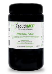 Zeolite MED® detox powder 200g in violet glass, Medical device