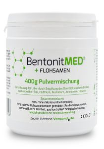 Bentonite MED® + Psyllium seed, 400g powder mixture, Medical device